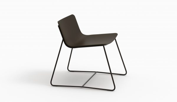 MINA lounge chair (Oak Black - Dark chrome leg) - Catalogue FARELL 2017