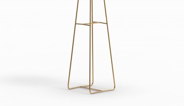 MINA high table - Marble Calacatta - Brass zoom down