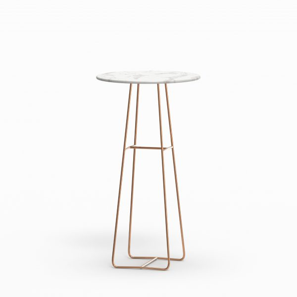 MINA high table - Marble Calacatta - Rose gold