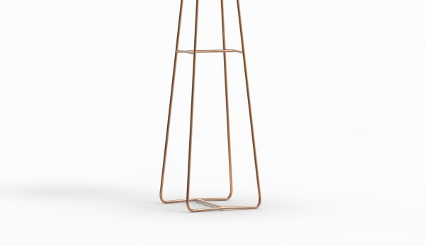 MINA high table - Marble Calacatta - Rose gold zoom down
