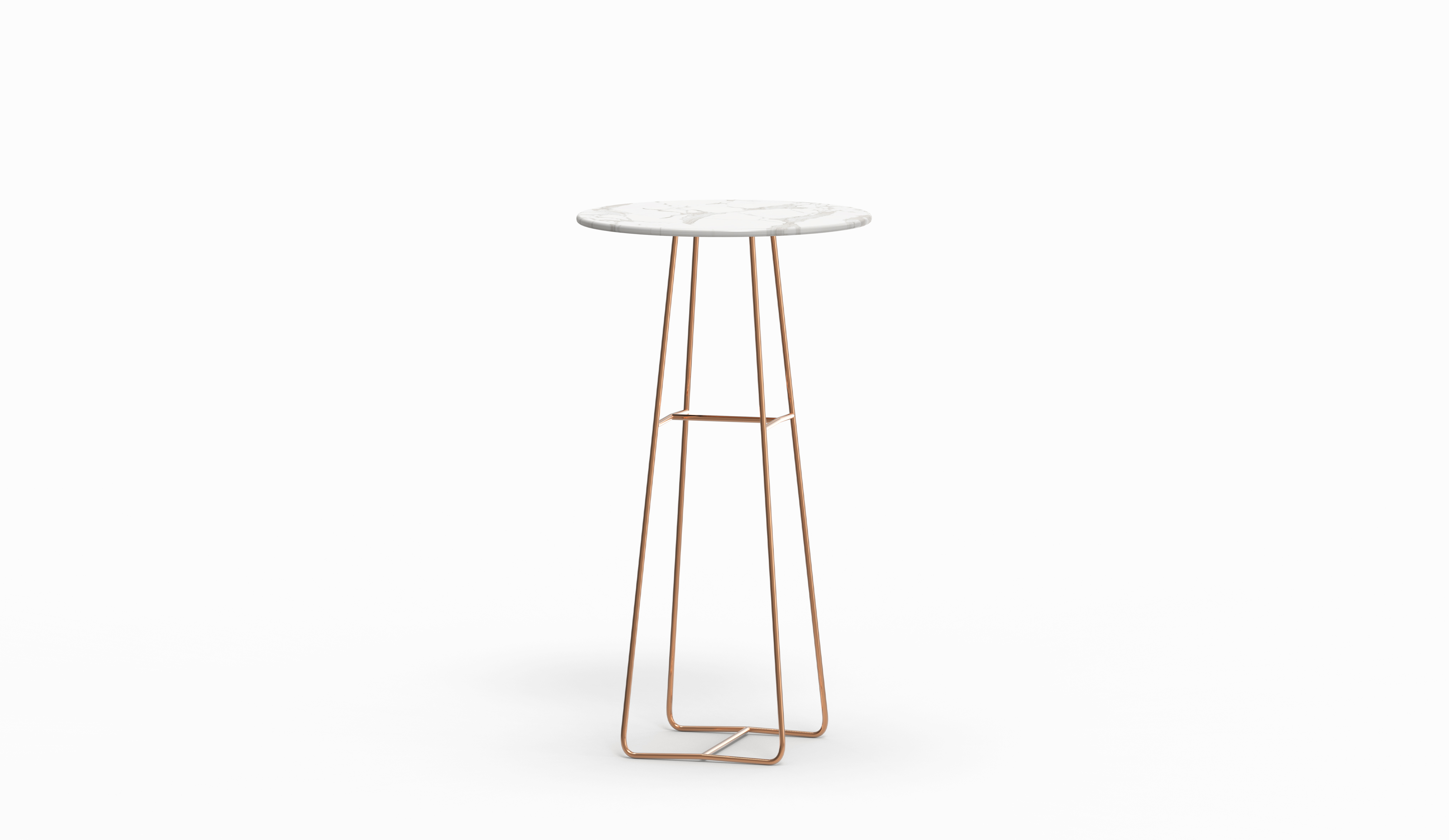Mina High Table Venato Marble Rose Gold Legs Farell Contemporary Design Objects With Character