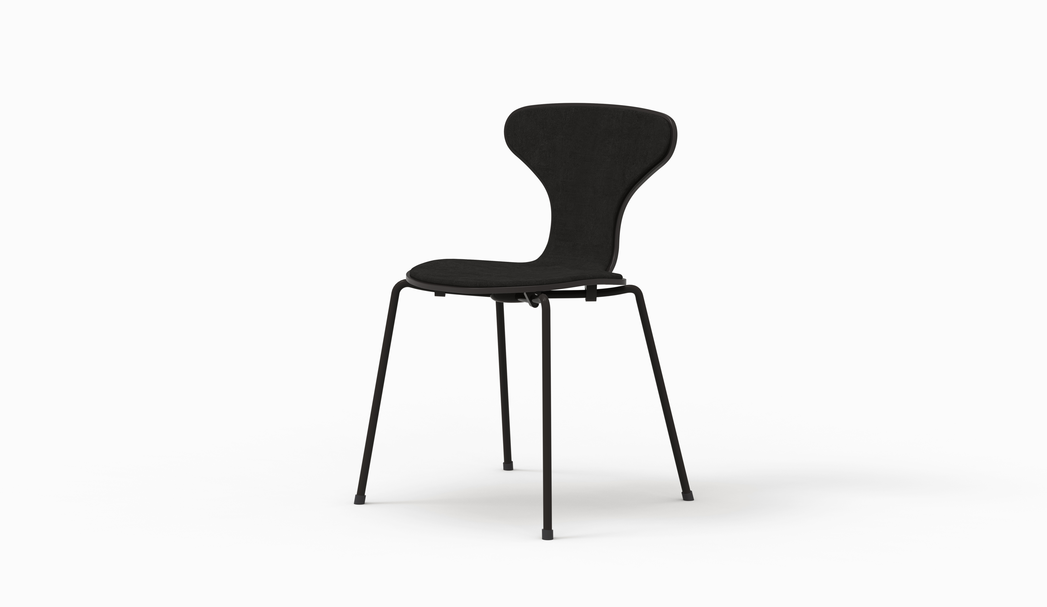 HI chair - Black - Aged Black Leather
