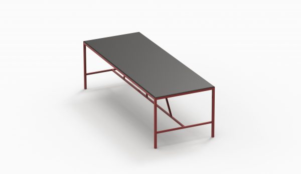 TAU table 2800x90 (Black top - Brick structure) axo up