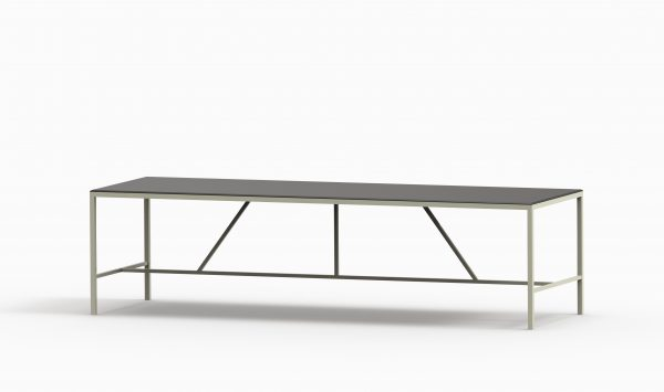 TAU table 2800x90 (Black top - Green Pasty structure)