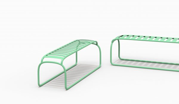 TURTLE bench couple - Electric Green - Catalogue FARELL 2018