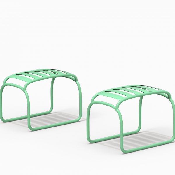 TURTLE stool couple - Electric Green - Catalogue FARELL 2018