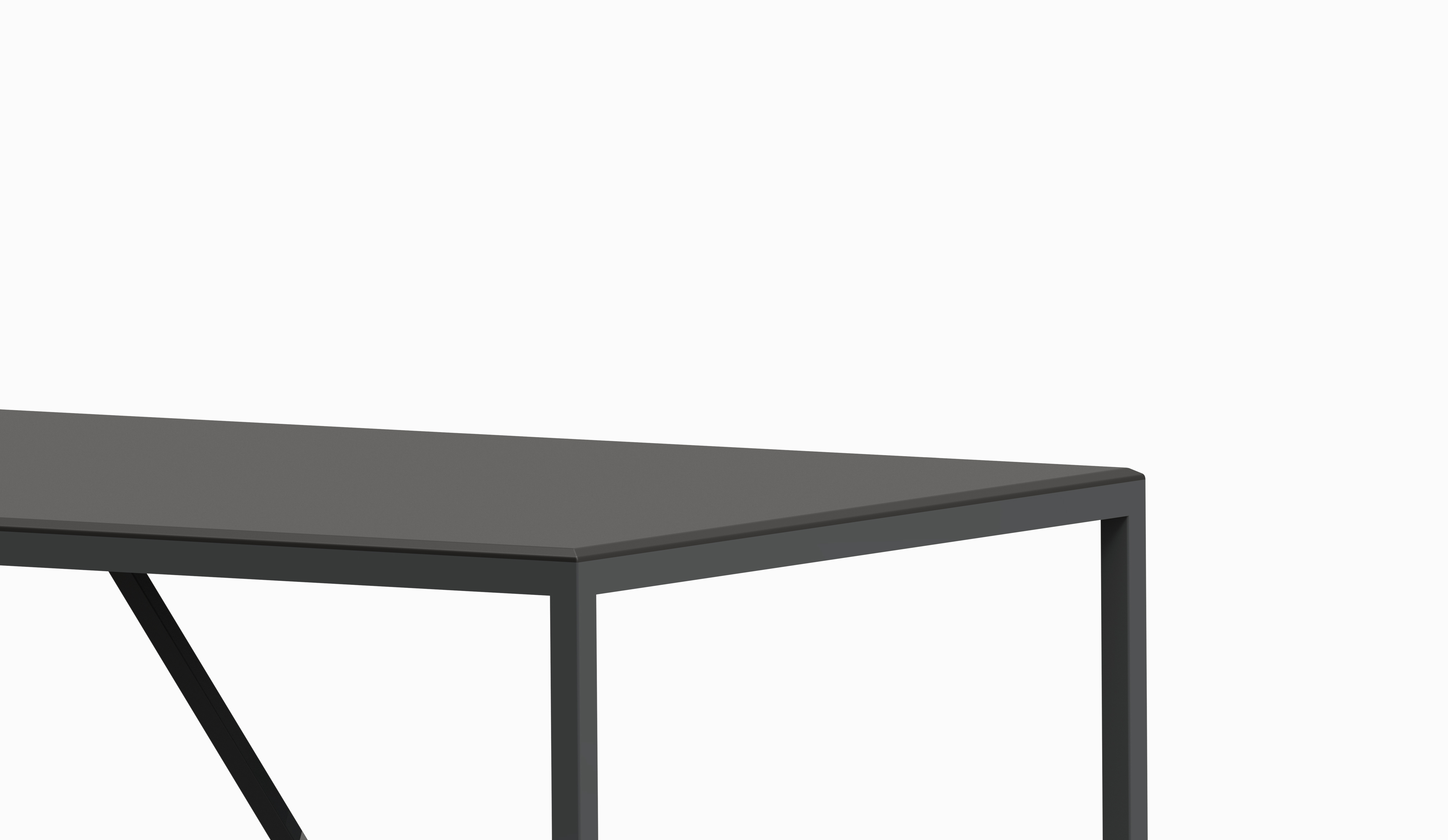 TAU table 1800x900 (Black top - Black Soft structure) zoom