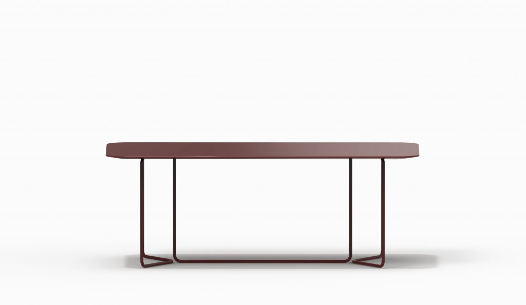 CHARLESTON Rectangular Table - Red Purple Monochrome