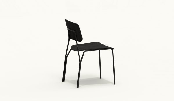 Y chair - FARELL - Ash stained Black - Black legs_axo rear up