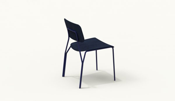 Y chair - FARELL - Ash stained Blue - blue Klein legs_axo rear up