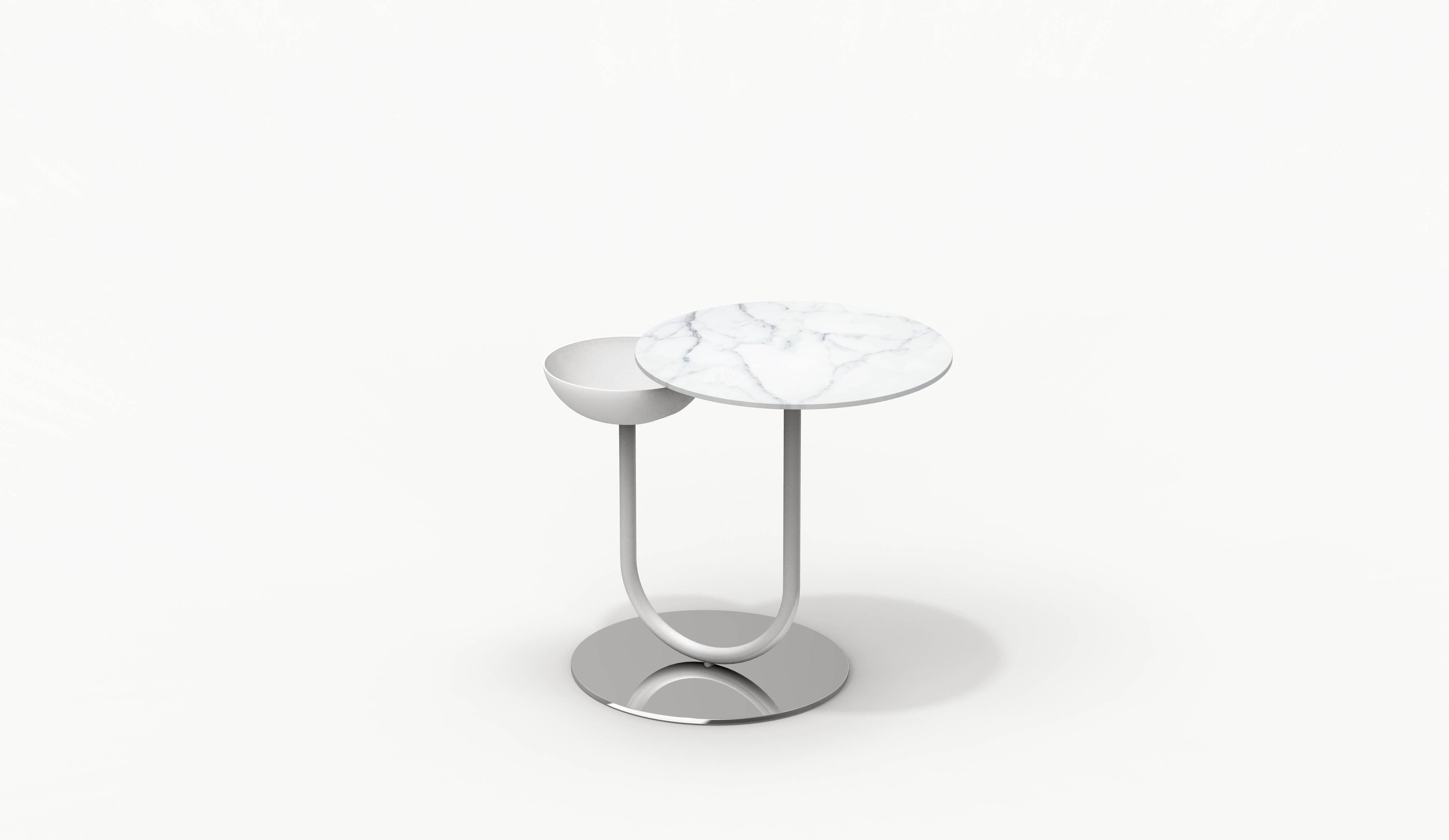 Escal Side Table White Version Farell Contemporary Design Objects With Character