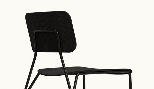 Y chair - FARELL - Ash stained Black - Black legs