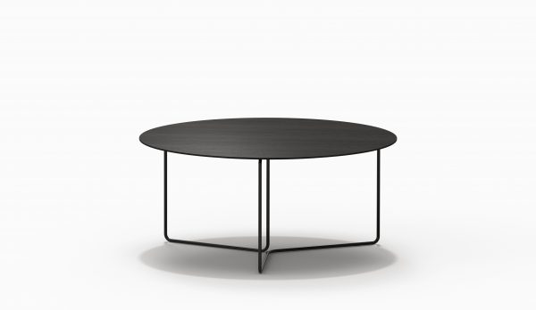 CHARLESTON Circular Table - Black wood - Black legs